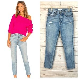 NWOT GRLFRND Karolina High Rise Distressed Jeans